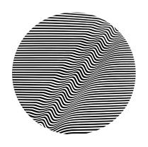 round wave 130 x 130 cm